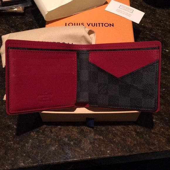 cff0bbfadce7 Louis Vuitton Red Black Damier Mult Brand New 2017
